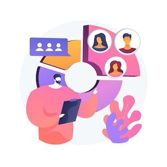 Ilustración de concepto abstracto de segmentación de audiencia