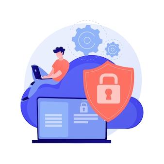 Ilustración de concepto abstracto de seguridad de computación en la nube