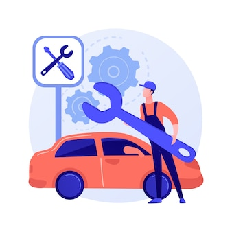 Ilustración de concepto abstracto de servicio de coche