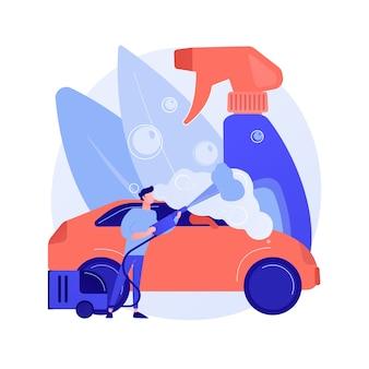 Ilustración de concepto abstracto de servicio de lavado de coches