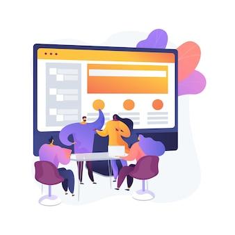 Ilustración de concepto abstracto de sitio web corporativo