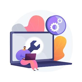 Ilustración de concepto abstracto de solución de problemas de computadora