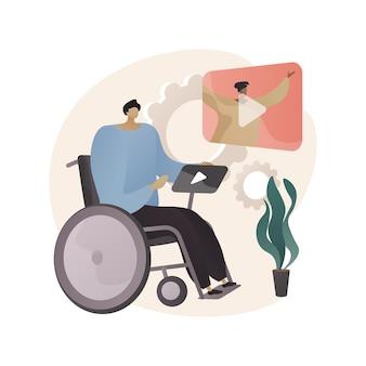Ilustración de concepto abstracto de tecnología de asistencia