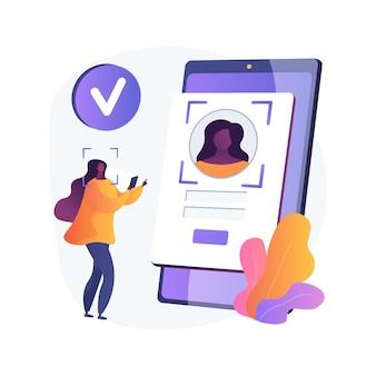 Ilustración de concepto abstracto de tecnologías de verificación