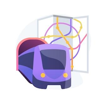 Ilustración de concepto abstracto de transporte subterráneo