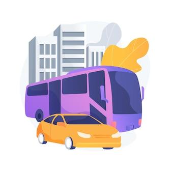 Ilustración de concepto abstracto de transporte de superficie