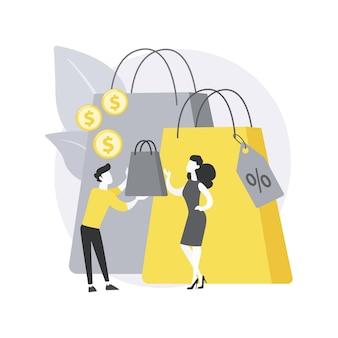 Ilustración de concepto abstracto de venta personalizada.