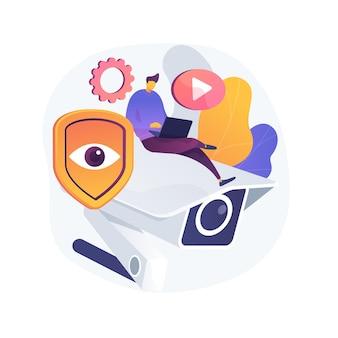 Ilustración de concepto abstracto de videovigilancia