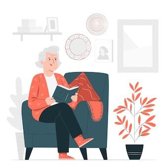Ilustración del concepto de abuela