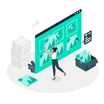 Ilustración de concepto actualización de portfolio