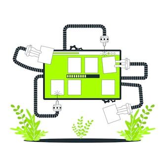 Ilustración de concepto de actualización de portfolio