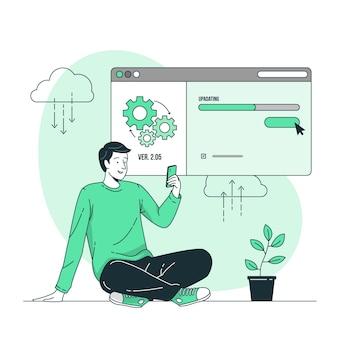 Ilustración del concepto de actualización