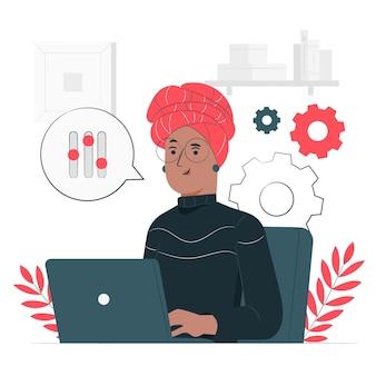 Ilustración del concepto de administrador