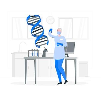Ilustración del concepto de adn