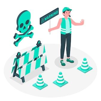 Ilustración del concepto de advertencia