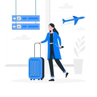 Ilustración del concepto de aeropuerto