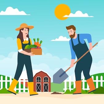 Ilustración del concepto de agricultura ecológica