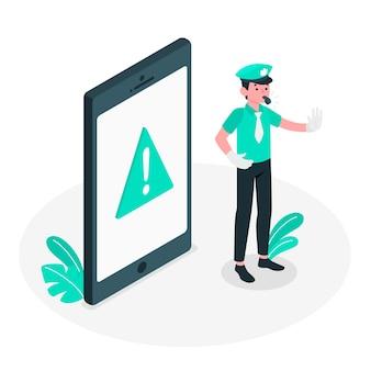 Ilustración del concepto de alerta
