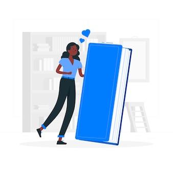 Ilustración del concepto de amante de libros