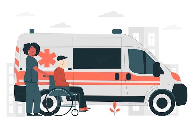 Ilustración del concepto de ambulancia