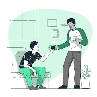 Ilustración de concepto de amigos verdaderos