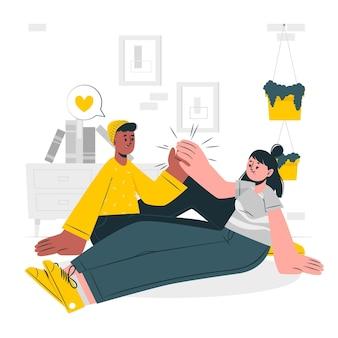 Ilustración del concepto de amigos