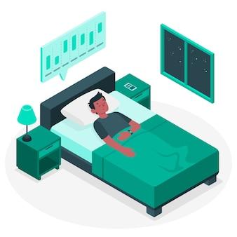 Ilustración de concepto análisis del sueño