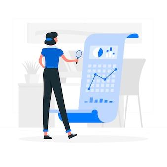 Ilustración del concepto de análisis
