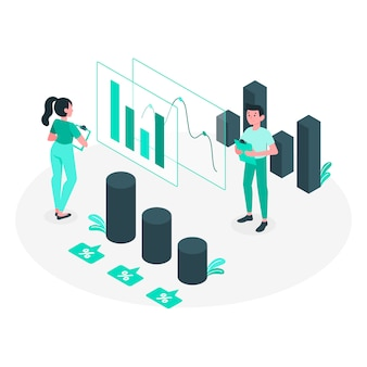 Ilustración del concepto de analíticas