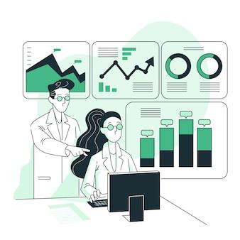 Ilustración del concepto analíticas