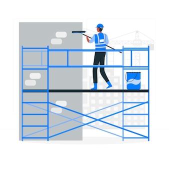 Ilustración del concepto de andamio