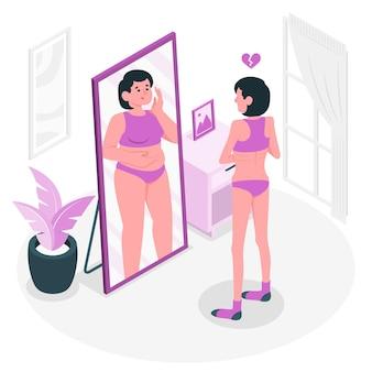 Ilustración del concepto de anorexia