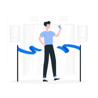 Ilustración del concepto de apertura