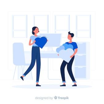Ilustración del concepto de apreciación
