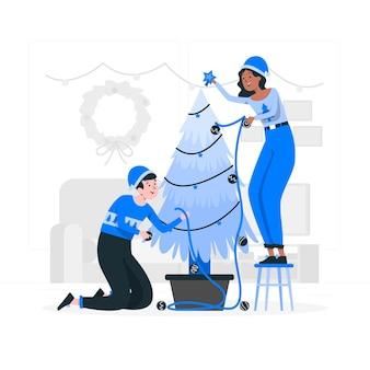 Ilustración del concepto de árbol de navidad