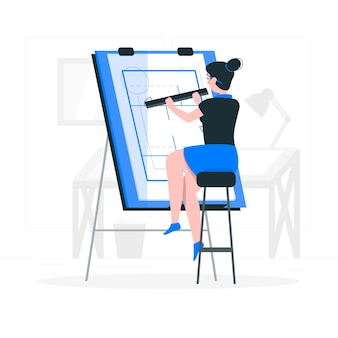 Ilustración del concepto de arquitecto