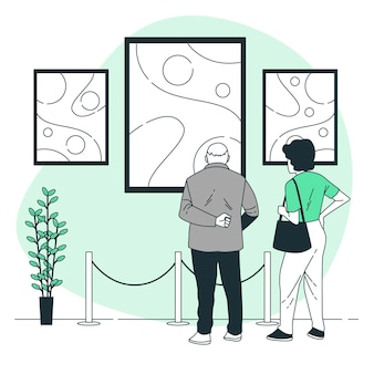 Ilustración del concepto de arte abstracto
