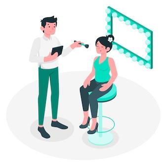 Ilustración de concepto artista de maquillaje