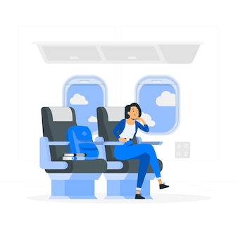 Ilustración de concepto de asiento de ventana