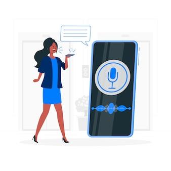 Ilustración del concepto de asistente de voz
