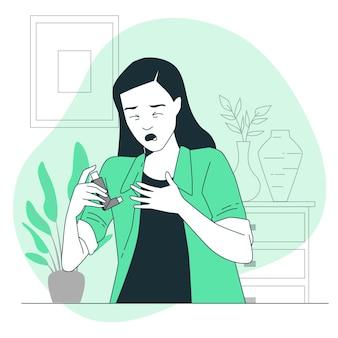 Ilustración del concepto de asma