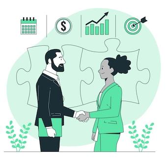 Ilustración del concepto de asociación