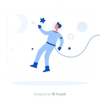 Ilustración del concepto de astronauta