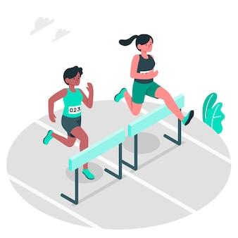 Ilustración del concepto de atletismo