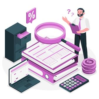 Ilustración del concepto de auditoría
