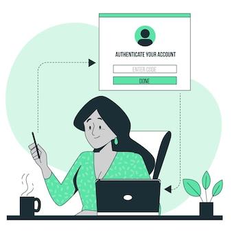 Ilustración del concepto de autenticación
