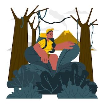 Ilustración del concepto de aventura