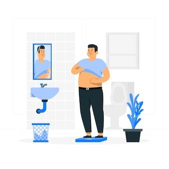 Ilustración del concepto de baja autoestima