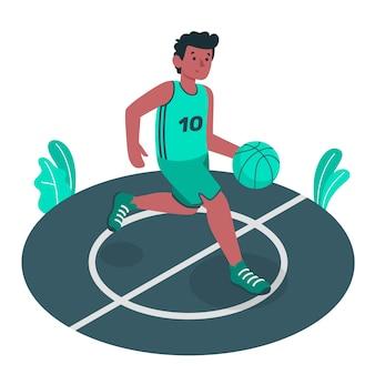 Ilustración del concepto de baloncesto