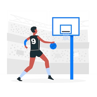 Ilustración de concepto baloncesto